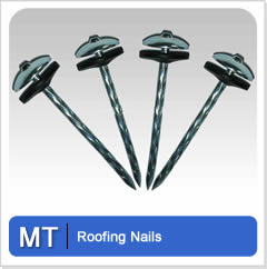 Aluminum Roofing Nails Offer High Grade And Decorative Effects When Used.  It Costs More Compared With Galvanized Roofing Nails.